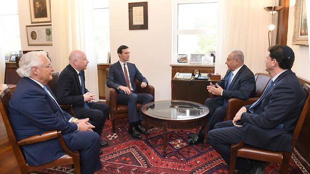 מפגש ראש ממשלה נתניהו ב לשכת ראש הממשלה עם ג'ארד קושנר יועצו ה בכיר של נשיא ארה