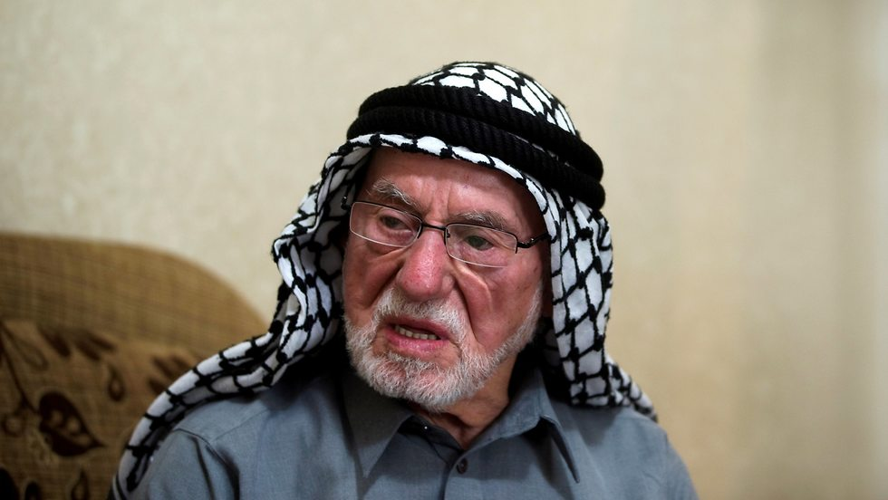 Mohammad Mahmoud Jadallah, a 96-year-old Palestinian from Sur Baher, a village in the suburbs of Arab east Jerusalem (Photo: Reuters)