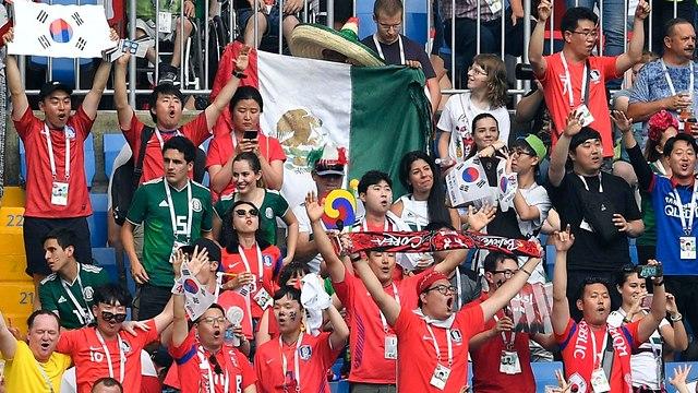 דרום קוריאה נגד מקסיקו (צילום: AP)