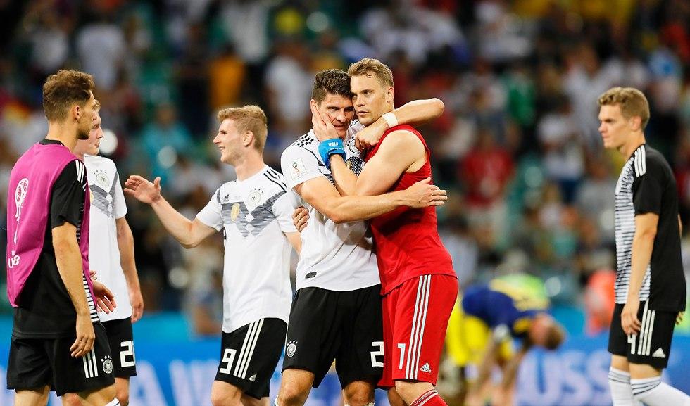נבחרת גרמניה (צילום: EPA)