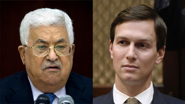 Jared Kushner and President Mahmoud Abbas (Photo: AP, MCT)