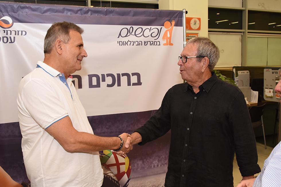 רכילות עסקית יורם ארבל ובכור צבאן (צילום: ישראל ביטון)