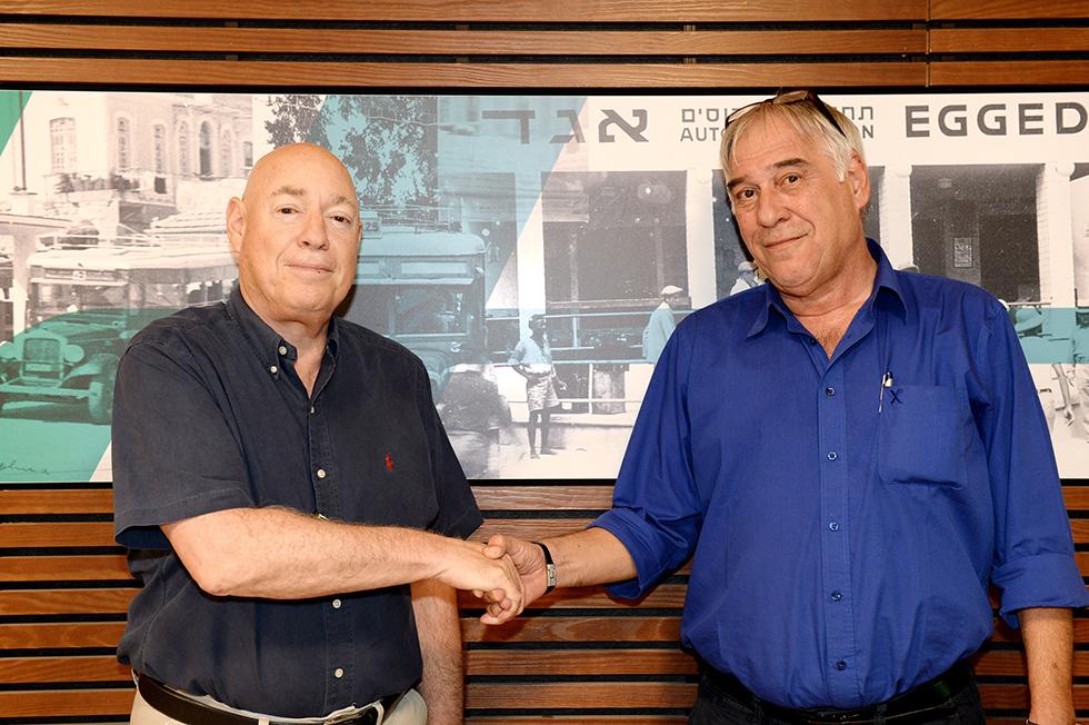 רכילות עסקית אבי פרידמן וצבי נטע (צילום: מורג ביטן)