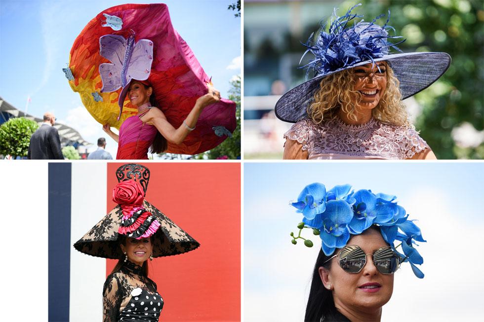 חוק מספר 2 באסקוט: אם הכובע גדול יותר מהראש שלך, כנראה שהגעת לתחרות במטרה להשוויץ במעצב הכובעים שלך, ופחות כדי לראות את הרוכבים מזיעים ממאמץ על הדשא (צילום: Leon Neal, Bryn Lennon/GettyimagesIL)