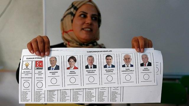 קלפי באנקרה טורקיה (צילום: AP)