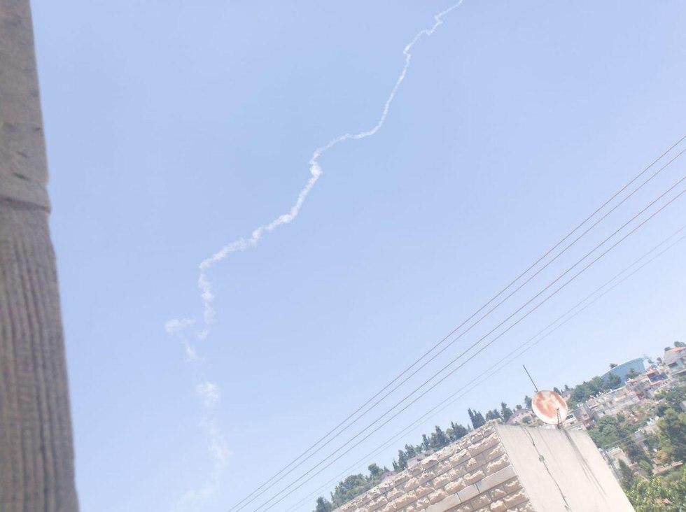 ירי טיל פטריוט מעל צפת (צילום: אלימלך גרסטל)