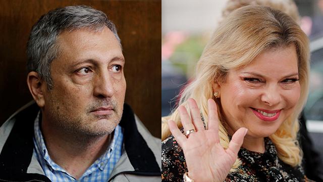 Sara Netanyahu and Nir Hefetz  (Photos: Reuters, AP)