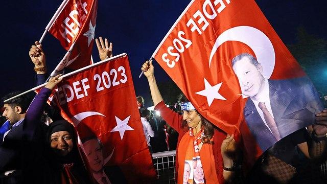 טורקיה בחירות רג'פ טאיפ ארדואן ניצח (צילום: EPA)