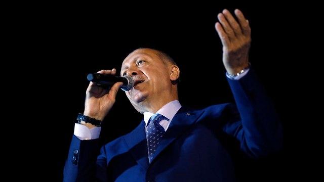 טורקיה בחירות רג'פ טאיפ ארדואן ניצח (צילום: AP)