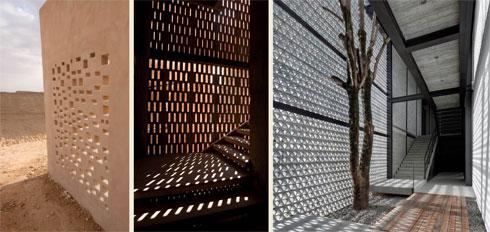 """אלמנטים של הצללה משולבים בבינוי (באדיבות """"פלסנר אדריכלים"""")"""
