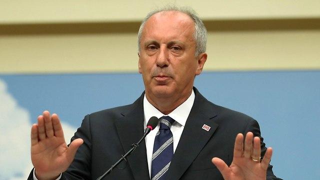 מוהרם אינצ'ה מועמד אופוזיציה טורקיה מודה בהפסד (צילום: רויטרס)