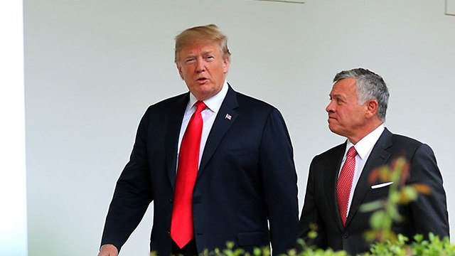 King Abdullah with President Trump (Photo: Reuters)