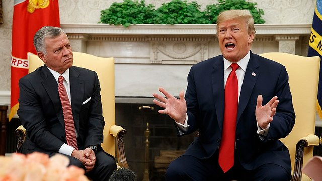 King Abdullah II of Jordan with US President Donald Trump at the White House (Photo: AP) (Photo: AP)