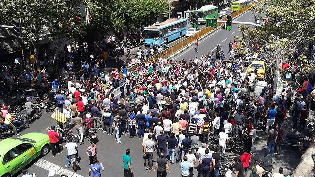 Protests against sanctions in Iran (Photo: EPA)