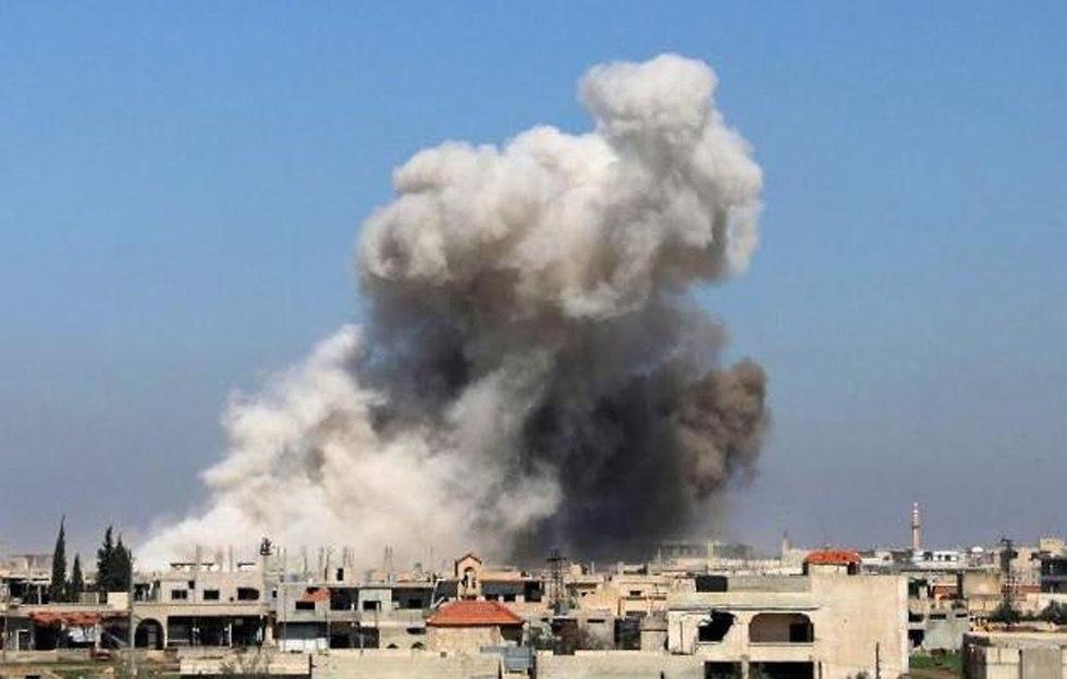 צבא סוריה הפצצות אזור דרעא ()