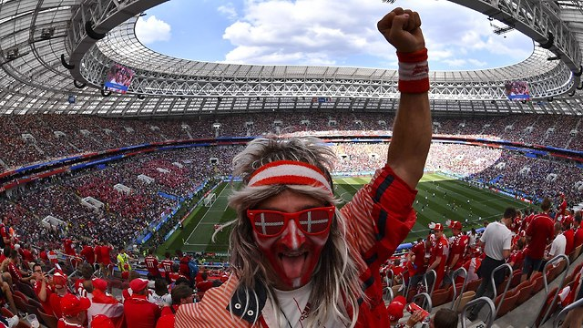 Болельщик датской сборной. Фото: AFP