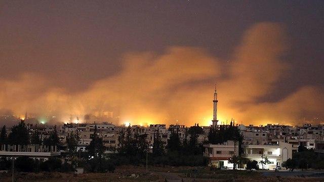 הפצצות בדרעא סוריה (צילום: AP)