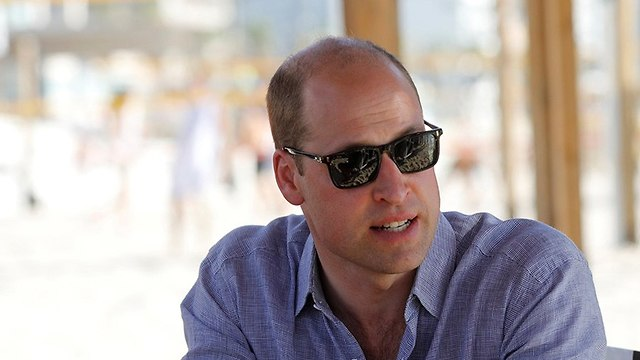 Prince William at Frishman beach (Photo: Reuters)