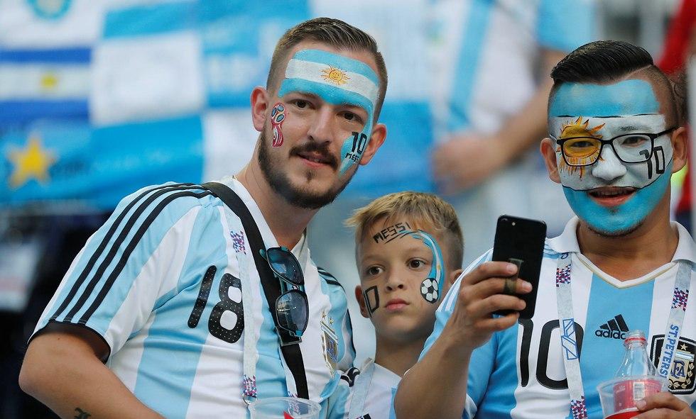 אוהדי נבחרת ארגנטינה (צילום: רויטרס)
