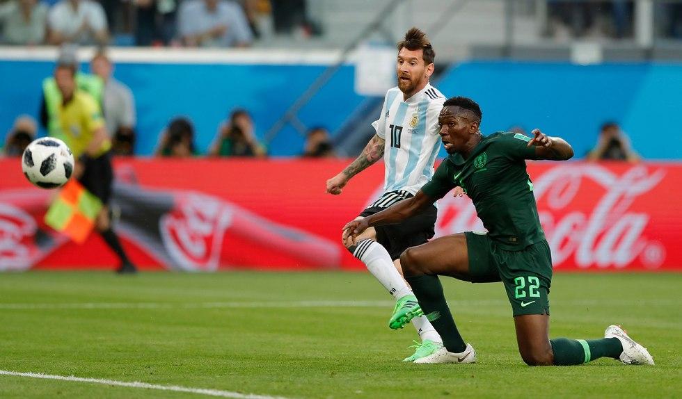 מסי כובש לזכות ארגנטינה (צילום: AP)