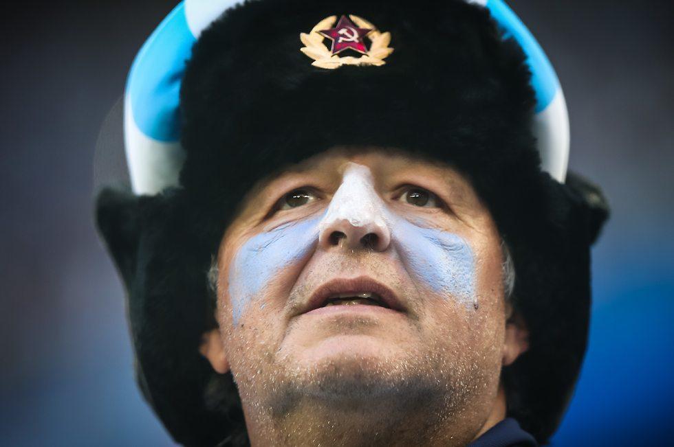 אוהד נבחרת ארגנטינה (צילום: עוז מועלם)