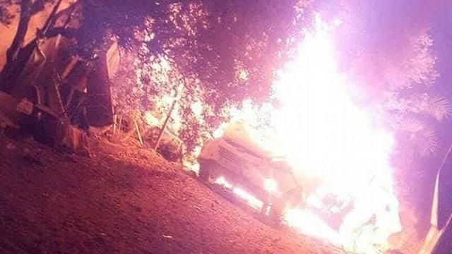 תקיפה חיל האוויר רצועת עזה רכב מכונית של פעיל חמאס ()