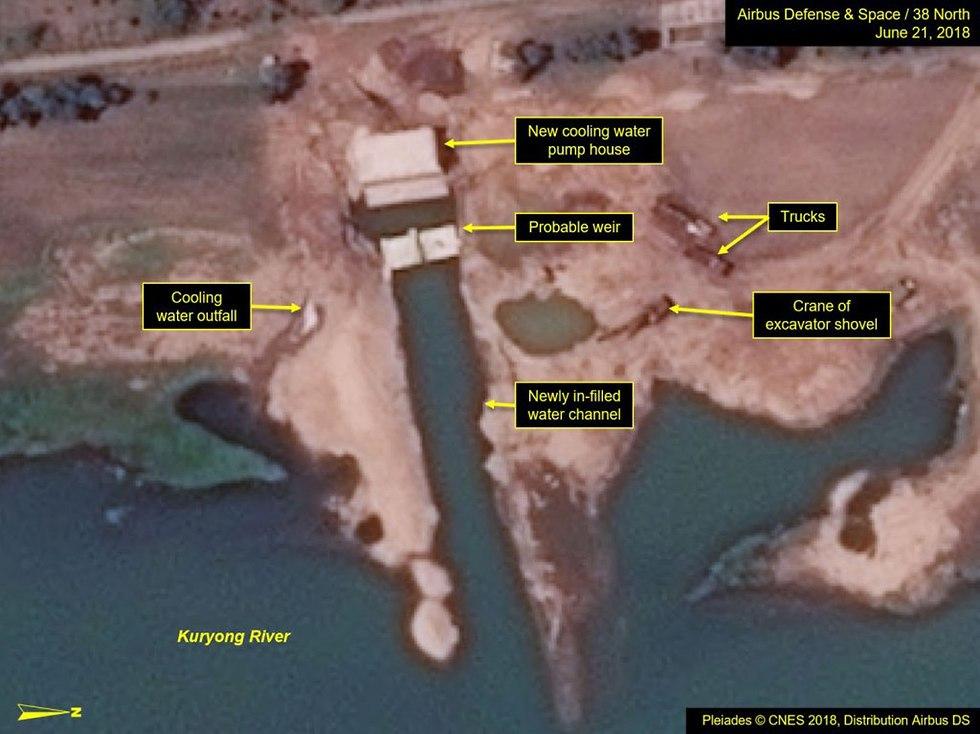 מפות העשרת האורניום של צפון קוריאה (צילום: CNES 2018, Distribution Airbus DS)