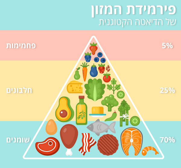 פירמידת המזון של הדיאטה הקטוגנית (איור: shutterstock)