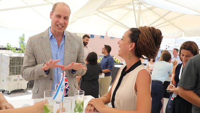 הנסיך ווילאם נפגש עם נטע ברזילי בתל אביב (צילום: דנה קופל)