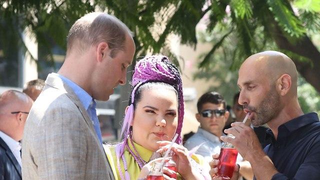 הנסיך ווילאם נפגש עם נטע ברזילי בתל אביב (צילום: gettyimages)
