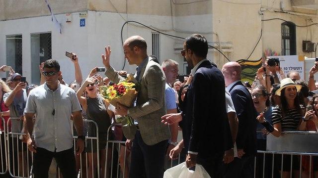 הנסיך ווילאם נפגש עם נטע ברזילי בתל אביב (צילום: Marc Israel Sellem)