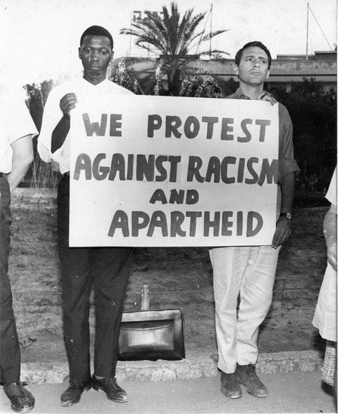 ארטור גולדרייך היה דמות מפתח במאבק נגד האפרטהייד בדרום אפריקה של שנות ה-50 וה-60 (אוסף גולדרייך– דה-שליט, ארכיון אדריכלות ישראל)