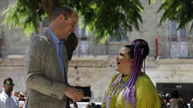 הנסיך ווילאם נפגש עם נטע ברזילי בתל אביב (צילום: AP)