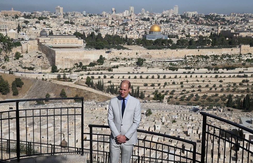 Принц Уильям на Масличной горе в Иерусалиме. Фото: Амит Шааби