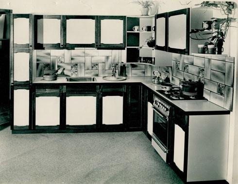 פונקציונלי וצנוע. מטבח משנות החמישים
