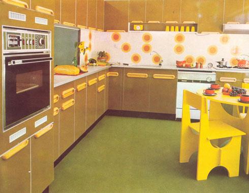 שיא של צבעוניות עזה. מטבח משנות השבעים