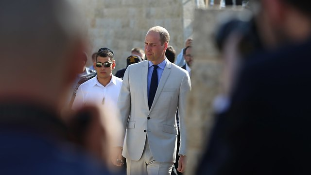 Принц Уильям в Старом городе. Фото: Амит Шааби