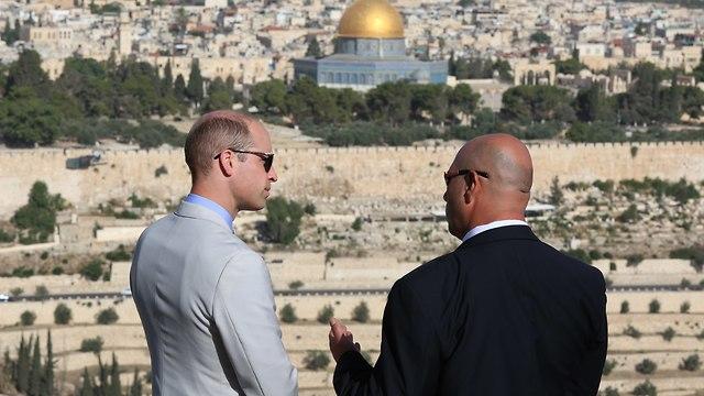 Принц Уильям осматривает Старый город в Иерусалиме. Фото: Амит Шааби