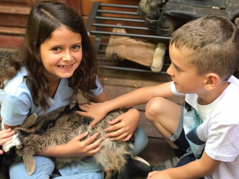 """""""הילדים לא יעשו שום דבר שיפגע בבעלי חיים"""" (צילום: אלבום משפחתי)"""