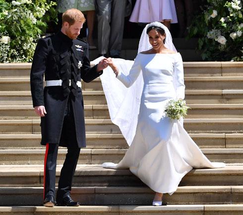 הצהובונים בבריטניה מדווחים כי מאז חתונתה לנסיך הארי בחודש מאי, הוציא בית המלוכה כמיליון דולר על המלתחה של מייגן מרקל (צילום: Ben STANSALL/GettyimagesIL)