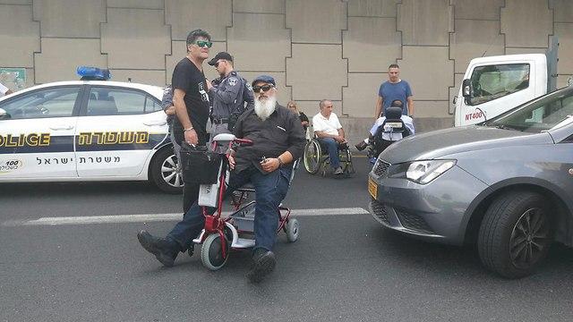 Diabled protest (Photo: Naor Lavi)