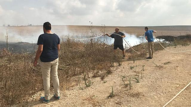 Fire in Gaza border community (Photo: Oshri Zimer)