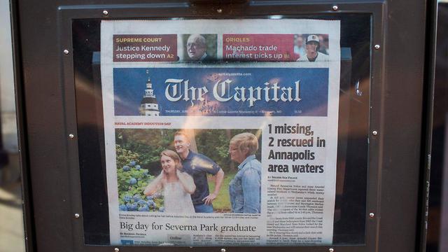 עיתון הקפיטל גזט (צילום: AFP)