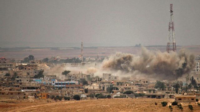 Daraa durante la lucha (Foto: AFP)