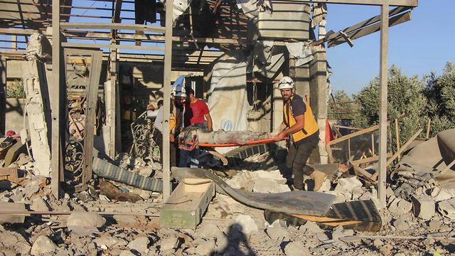 הריסות בעיר דרעא (צילום: AP)