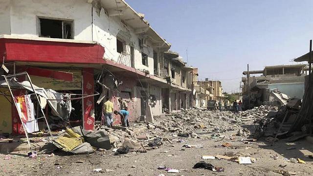Destruction in Deraa (Photo: AP)