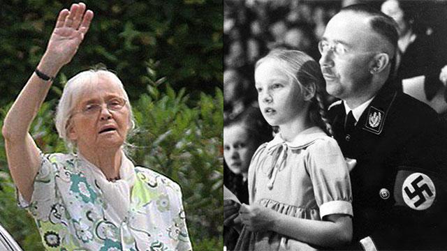 Дочь Гиммлера в детстве и в старости. Фото: АР
