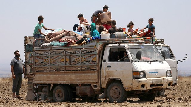 Refugees in the Daraa province (Photo: Reuters)