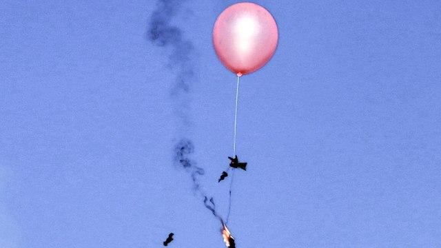 Globo incendiario (Foto: AFP)