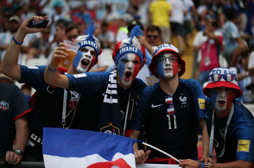 אוהדי נבחרת צרפת (צילום: AFP)
